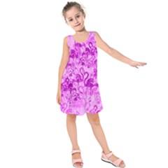 Flamingo Pattern Kids  Sleeveless Dress