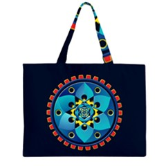 Abstract Mechanical Object Zipper Large Tote Bag