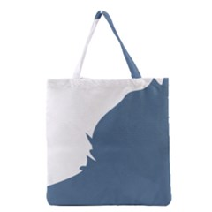 Blue White Hill Grocery Tote Bag