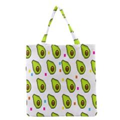 Avocado Seeds Green Fruit Plaid Grocery Tote Bag
