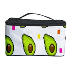 Avocado Seeds Green Fruit Plaid Cosmetic Storage Case