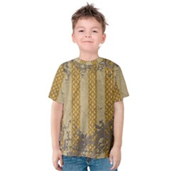 Wall Paper Old Line Vertical Kids  Cotton Tee