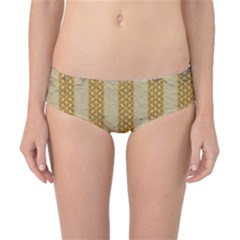 Wall Paper Old Line Vertical Classic Bikini Bottoms