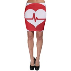 Cardiologist Hypertension Rheumatology Specialists Heart Rate Red Love Bodycon Skirt