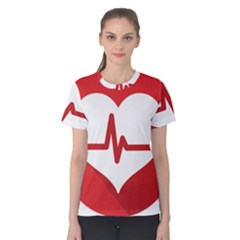 Cardiologist Hypertension Rheumatology Specialists Heart Rate Red Love Women s Cotton Tee