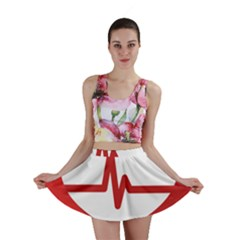 Cardiologist Hypertension Rheumatology Specialists Heart Rate Red Love Mini Skirt