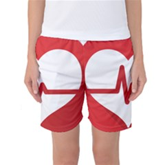Cardiologist Hypertension Rheumatology Specialists Heart Rate Red Love Women s Basketball Shorts