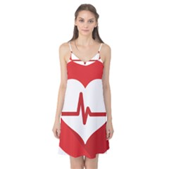 Cardiologist Hypertension Rheumatology Specialists Heart Rate Red Love Camis Nightgown