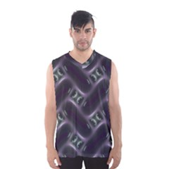Closeup Purple Line Men s Basketball Tank Top