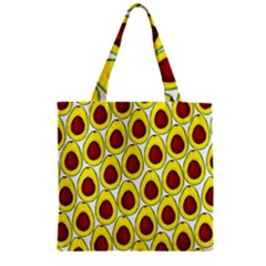 Avocados Seeds Yellow Brown Greeen Zipper Grocery Tote Bag