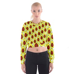 Avocados Seeds Yellow Brown Greeen Cropped Sweatshirt