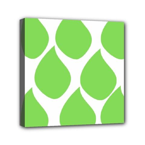 Green Water Rain Mini Canvas 6  x 6