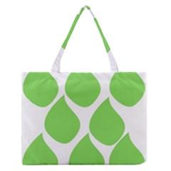 Green Water Rain Medium Zipper Tote Bag