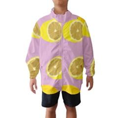 Fruit Lemons Orange Purple Wind Breaker (Kids)