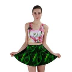 Green Eye Line Triangle Poljka Mini Skirt