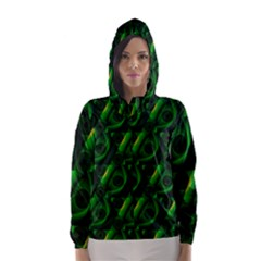 Green Eye Line Triangle Poljka Hooded Wind Breaker (Women)