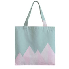 Montain Blue Snow Chevron Wave Pink Grocery Tote Bag