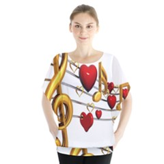 Music Notes Heart Beat Blouse