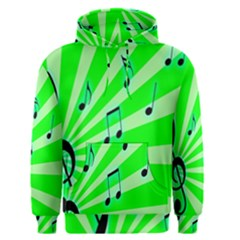 Music Notes Light Line Green Men s Pullover Hoodie