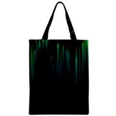 Lines Light Shadow Vertical Aurora Zipper Classic Tote Bag