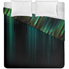 Lines Light Shadow Vertical Aurora Duvet Cover Double Side (king Size)