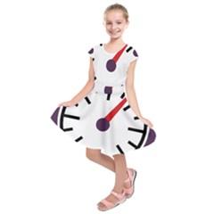 Maker Measurer Hours Time Speedometer Kids  Short Sleeve Dress