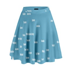 Peta Anggota City Blue Eropa High Waist Skirt