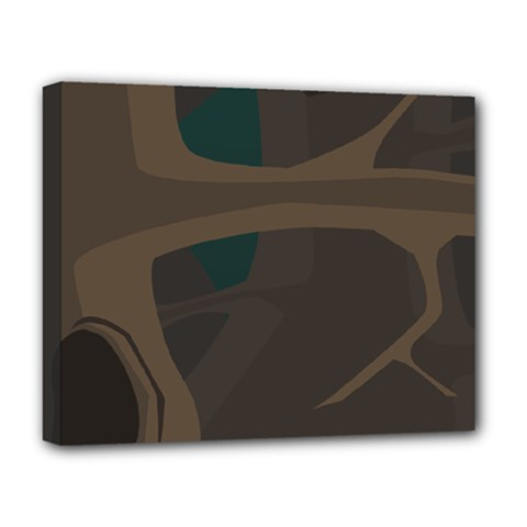 Tree Jungle Brown Green Deluxe Canvas 20  x 16