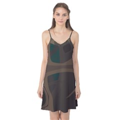 Tree Jungle Brown Green Camis Nightgown
