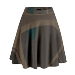 Tree Jungle Brown Green High Waist Skirt