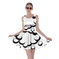 Splash Bubble Black White Polka Circle Skater Dress
