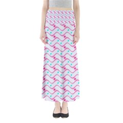 Squiggle Red Blue Milk Glass Waves Chevron Wave Pink Maxi Skirts