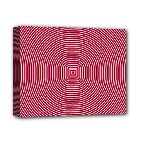 Stop Already Hipnotic Red Circle Deluxe Canvas 14  x 11