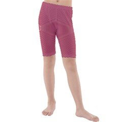 Stop Already Hipnotic Red Circle Kids  Mid Length Swim Shorts