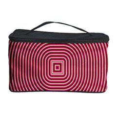 Stop Already Hipnotic Red Circle Cosmetic Storage Case
