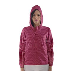 Stop Already Hipnotic Red Circle Hooded Wind Breaker (Women)