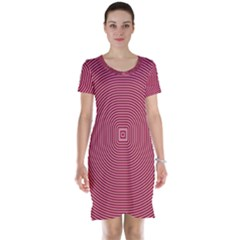Stop Already Hipnotic Red Circle Short Sleeve Nightdress