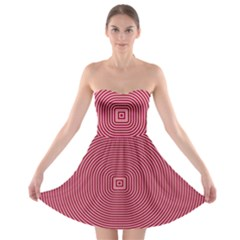 Stop Already Hipnotic Red Circle Strapless Bra Top Dress