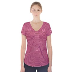 Stop Already Hipnotic Red Circle Short Sleeve Front Detail Top