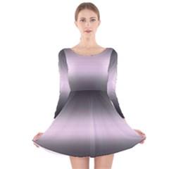 Decorative pattern Long Sleeve Velvet Skater Dress