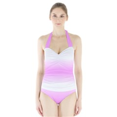 Decorative pattern Halter Swimsuit