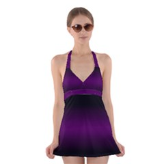 Decorative pattern Halter Swimsuit Dress