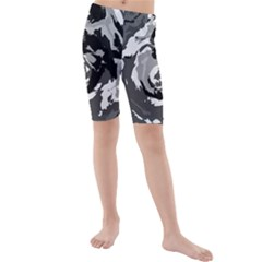 Abstract art Kids  Mid Length Swim Shorts