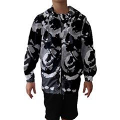 Abstract art Hooded Wind Breaker (Kids)