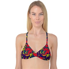 Abstract art Reversible Tri Bikini Top