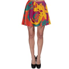 Abstract art Skater Skirt
