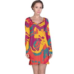 Abstract art Long Sleeve Nightdress