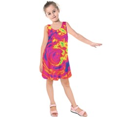Abstract art Kids  Sleeveless Dress