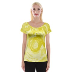 Abstract art Women s Cap Sleeve Top
