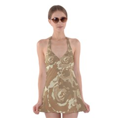 Abstract art Halter Swimsuit Dress